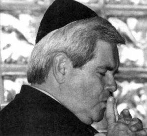 Newt Gingrich Rocking a Yarmulka